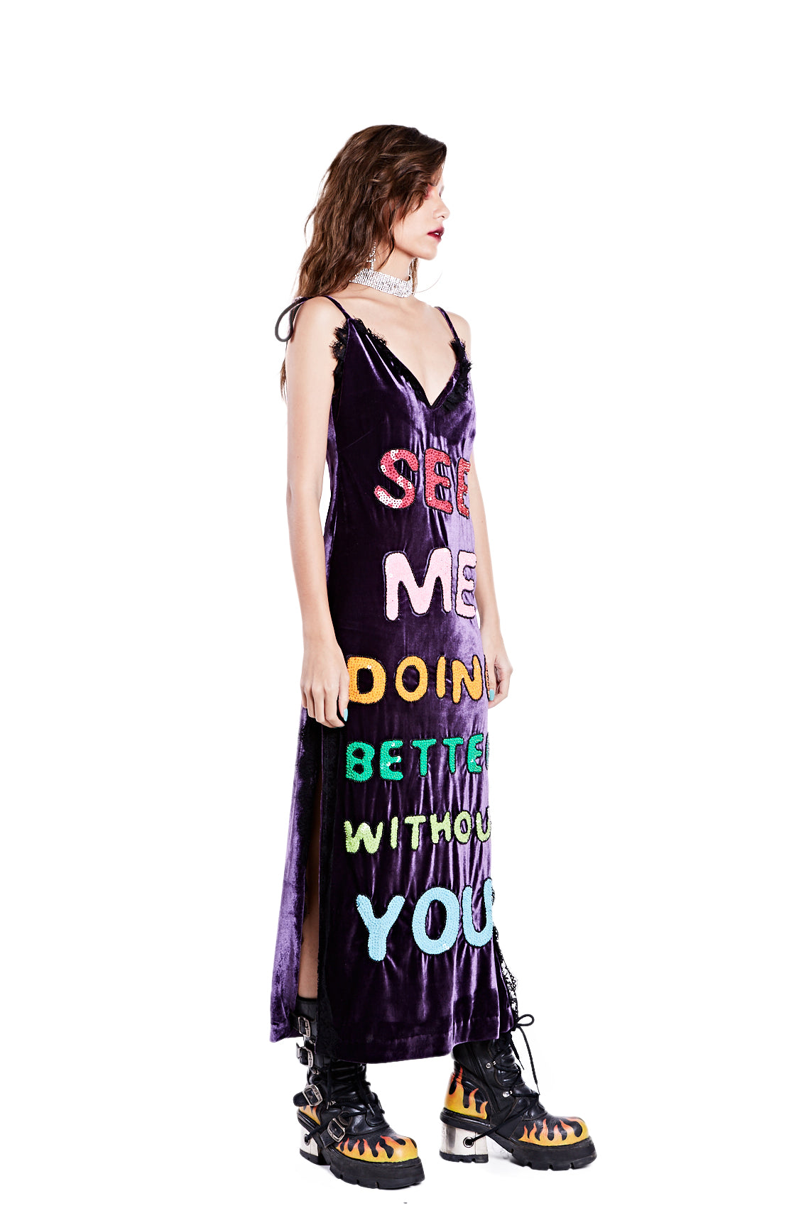 Better Without You Dress - Purple - I LOVE DIY by Panida