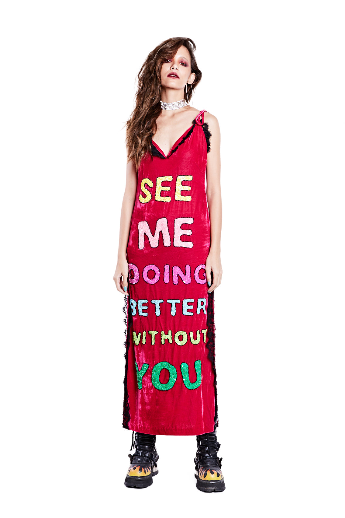 Better Without You Dress - Red - I LOVE DIY by Panida