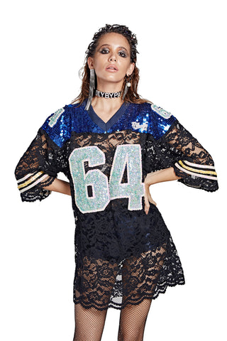 Lace Football Jersey - '64' FB County