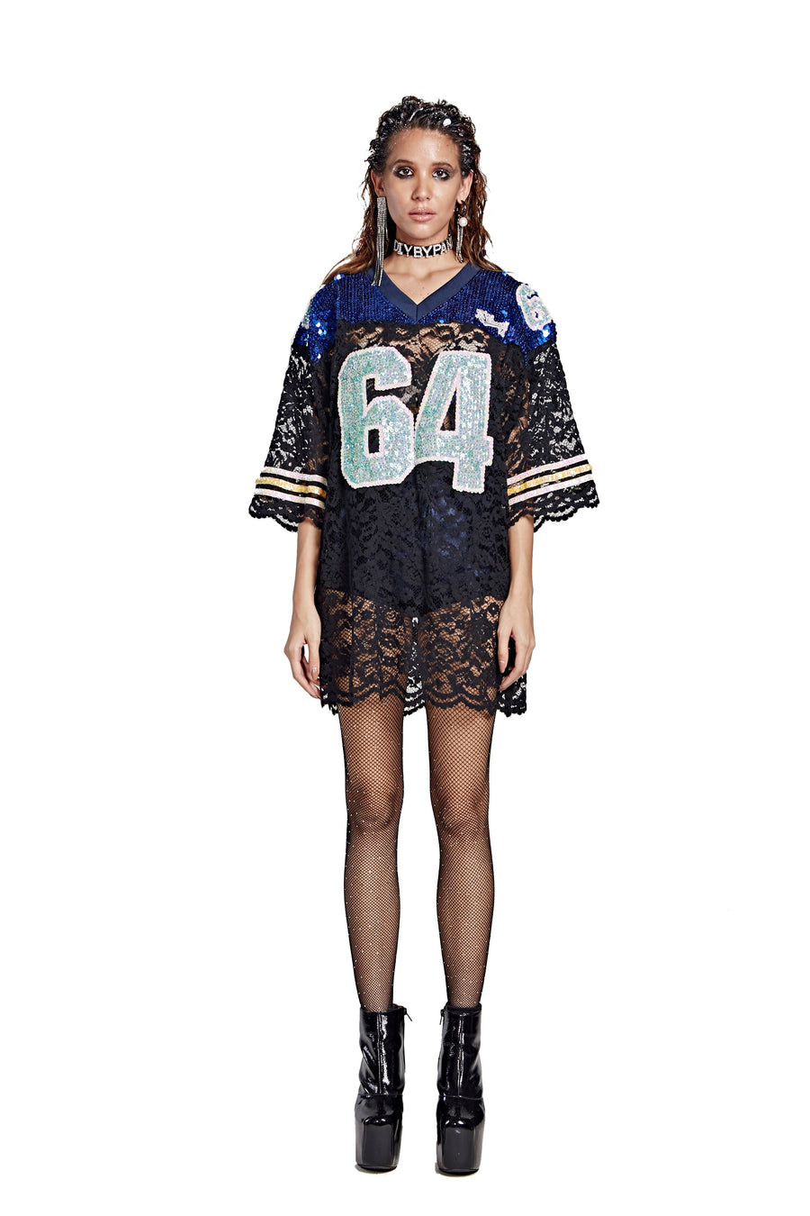 Lace Football Jersey - '64' FB County - I LOVE DIY by Panida