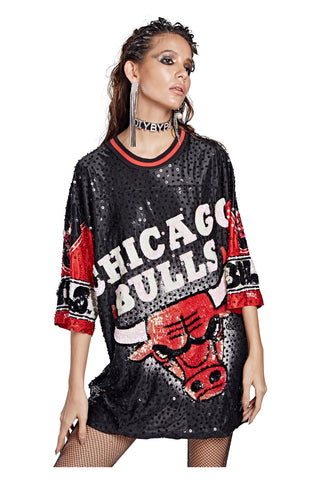 Chicago Bulls Nutmeg Mills Mod Top
