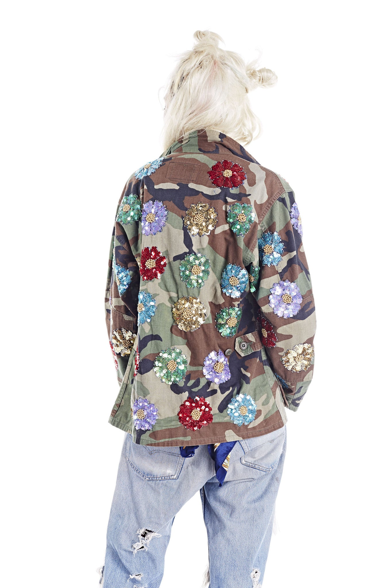 Flower Power Button Up - Camo