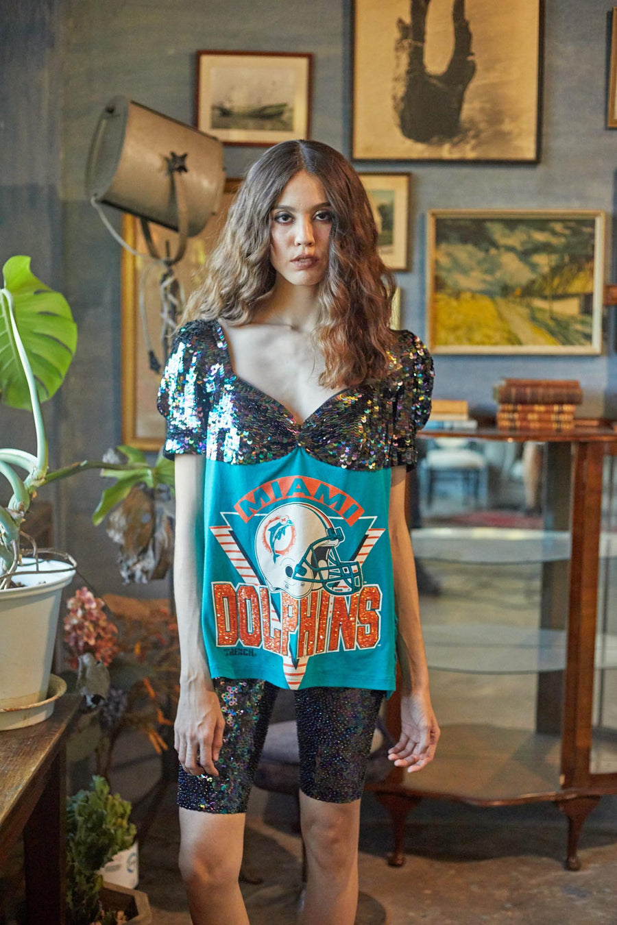 American Sports Mod Top - Miami Dolphins - I LOVE DIY by Panida