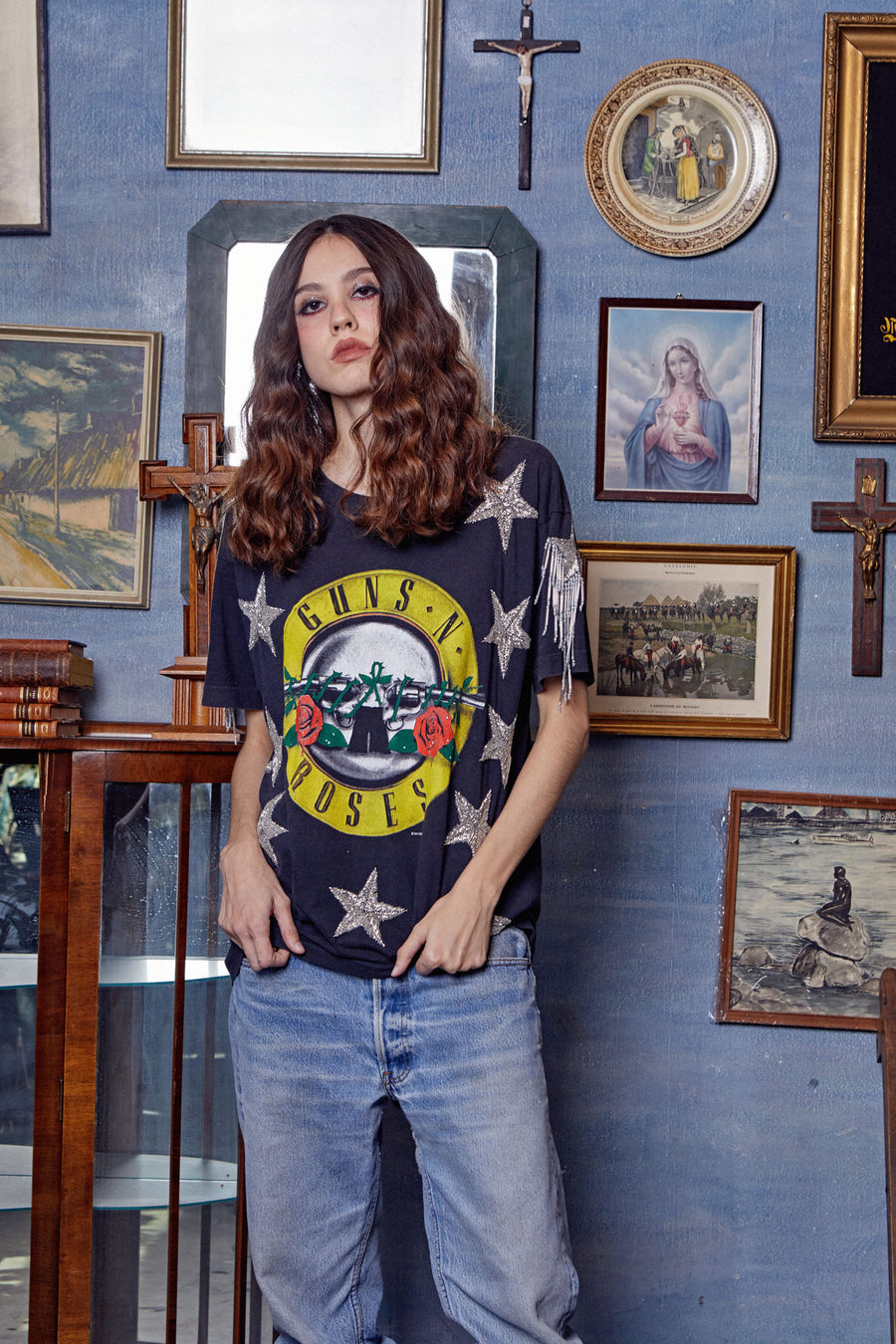 Star Spangled Top - Guns N Roses Was Here - I LOVE DIY by Panida