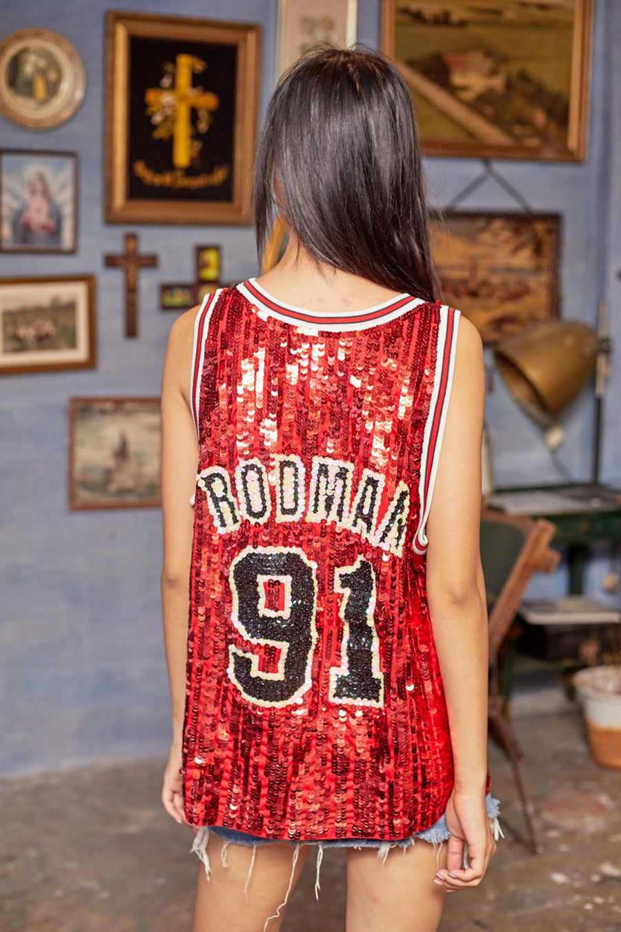 Chicago Bulls '91' Rodman Jersey Mod V2 - I LOVE DIY by Panida