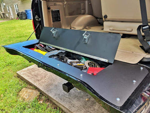 100 Series Land Cruiser tailgate storage mod