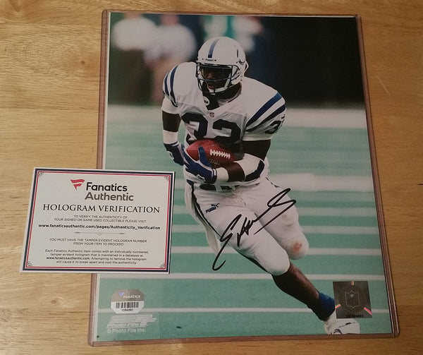 Edgerrin James Colts Signed 8x10 Fanatics Numbered Hologram