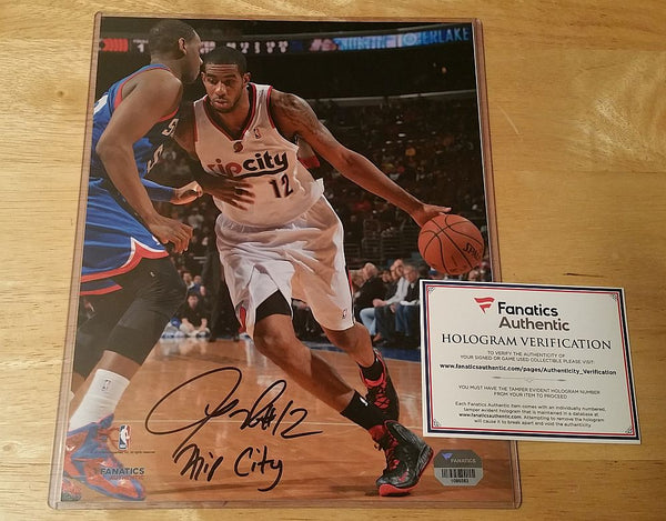 Lamarcus Aldridge Trail Blazers Signed 8x10 Fanatics Numbered Hologram