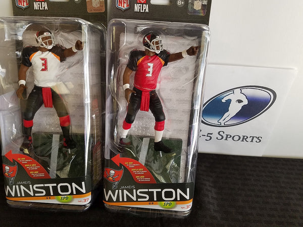 Set of 2 Jameis Winston Buccaneers McFarlane Figures w Original Packaging