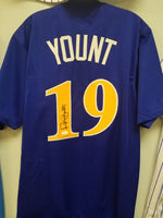 Robin Yount Brewers Signed BP Autographed Custom Jersey JSA