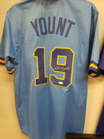 Robin Yount Brewers Signed Autographed Custom Jersey JSA