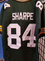 Sterling Sharpe Packers Signed  Autographed Custom Jersey Inscrips