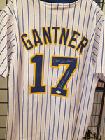Jim Gantner Brewers Signed BP Autographed Custom Jersey Inscrip