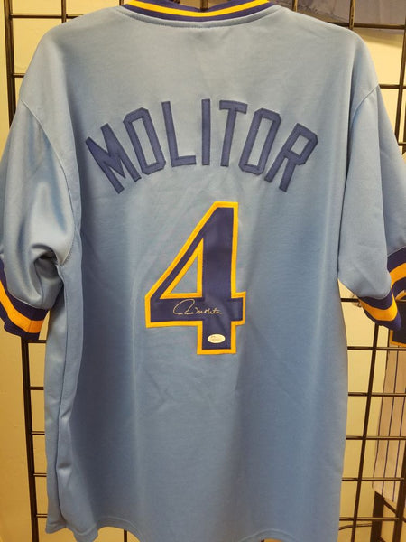 Paul Molitor Brewers Signed BP Autographed Custom Jersey JSA