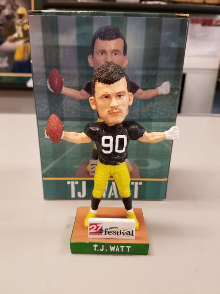 2018 TJ Watt Madison Mallards Bobblehead w Original Box and Packaging