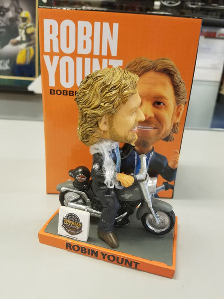 2018 Robin Yount Chinooks Harley Motorcycle Bobblehead w Original Box and Packaging