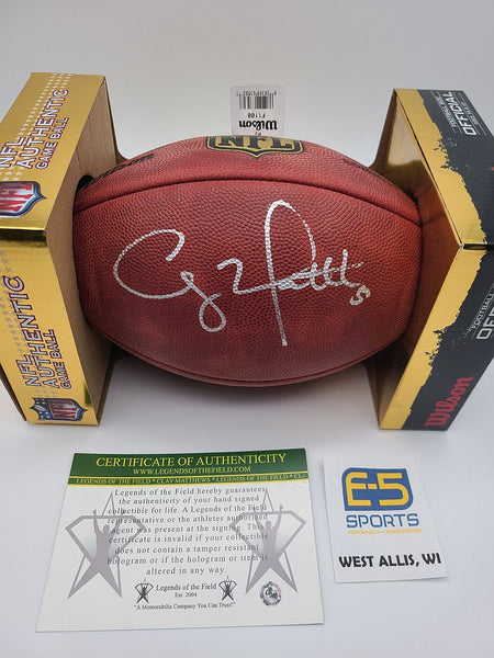 Clay Matthews Packers Signed Autographed Official NFL Duke Football