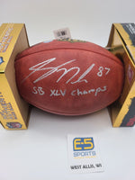 Jordy Nelson Packers Signed Autographed Official NFL Duke Football INSCRIPTION