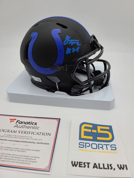 Jonathan Taylor Colts Signed Autographed Mini Eclipse Replica Speed Helmet