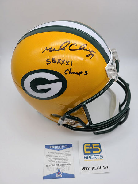 Mark Chmura Packers Signed Autographed Full Size Replica Helmet BECKETT