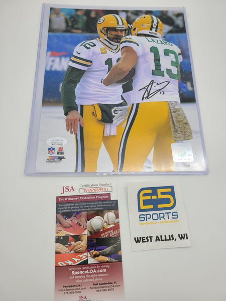 Allen Lazard Green Bay Packers Signed Autographed 8x10 Photo JSA #2