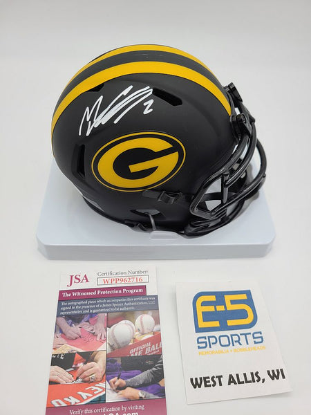 Mason Crosby Packers Signed Autographed Mini Eclipse Helmet