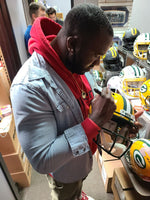 Nick Collins Packers Signed Autographed Full Size Authentic Speed Helmet Champs