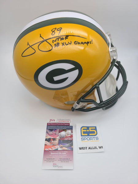 James Jones Packers Signed Autographed Full Size Replica Helmet SB XLV Champs