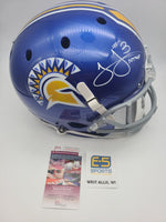 James Jones San Jose State Packers Signed Autographed Full Size Replica Helmet
