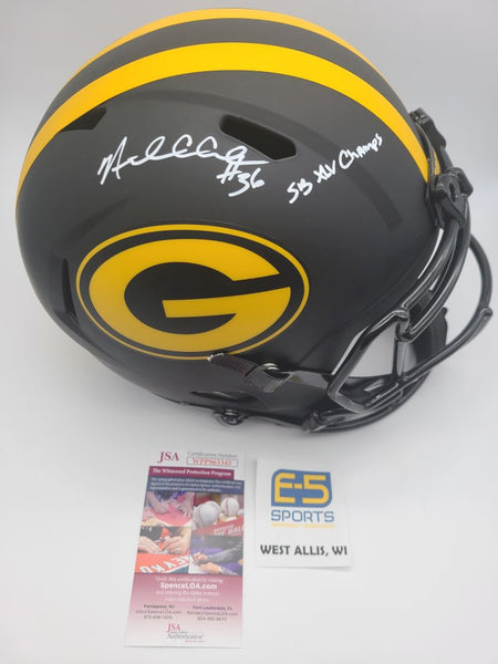 Nick Collins Packers Signed Autographed Full Size Replica Eclipse Speed Helmet