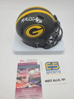 Nick Collins Packers Signed Autographed Mini Replica Eclipse Speed Helmet