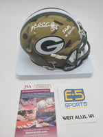 Nick Collins Packers Signed Autographed Mini Camo Speed Helmet Salute to Service