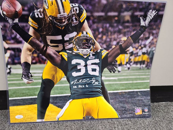 Nick Collins Green Bay Packers Signed Autographed 16x20 Photo JSA #1 SB 45
