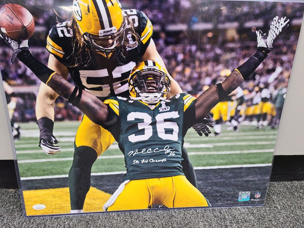 Nick Collins Green Bay Packers Signed Autographed 16x20 Photo JSA #2 SB 45