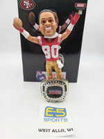 Jerry Rice 49ers Ring Base Bobblehead w Original Box and Packaging
