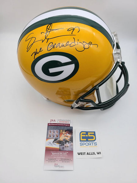 Gilbert Brown Packers Signed Autographed Full Size Replica Helmet GRAVEDIGGER