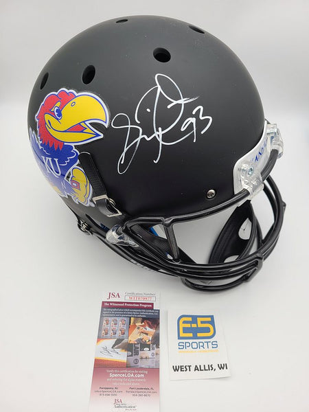 Gilbert Brown Packers Jayhawks Signed Autographed Full Size Replica Helmet #2