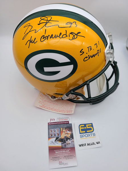 Gilbert Brown Packers Signed Autographed Full Size Authentic Helmet GRAVEDIGGER