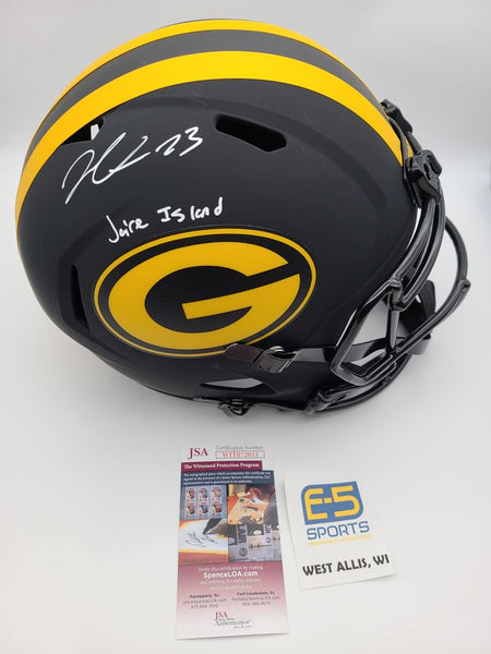 Jaire Alexander Packers Signed Autographed Full Size Replica Eclipse Helmet JSA