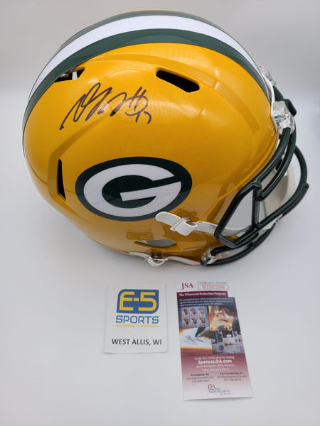 Davante Adams Packers Signed Autographed Full Size Replica Speed Helmet JSA