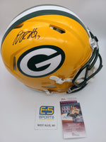 Davante Adams Packers Signed Autographed Full Size Authentic Speed Helmet JSA