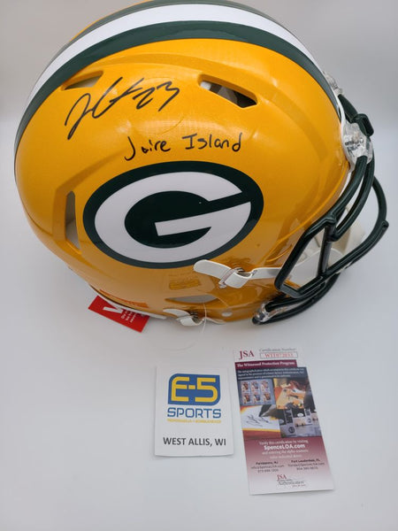 Jaire Alexander Packers Signed Autographed Full Size Authentic Speed Helmet JSA