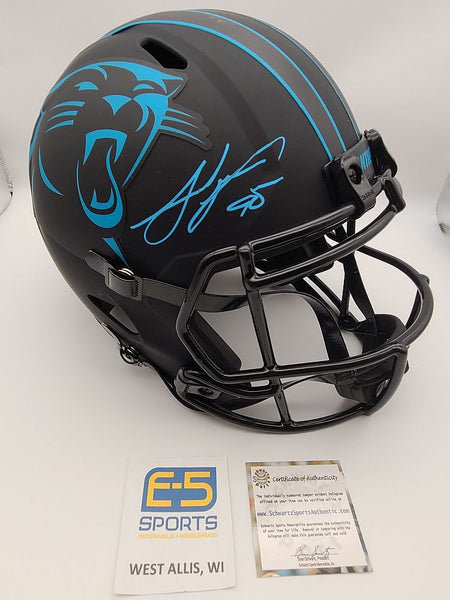 Julius Peppers Panthers Signed Autographed Full Size Replica Flat Black Helmet