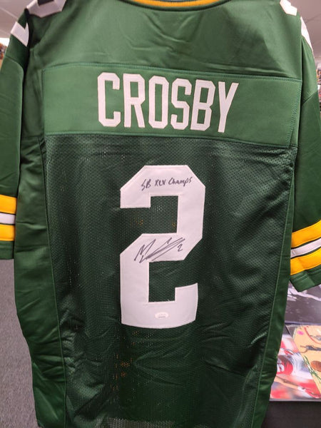 Mason Crosby Packers Signed Autographed Custom Green Jersey SB XLV CHAMPS JSA