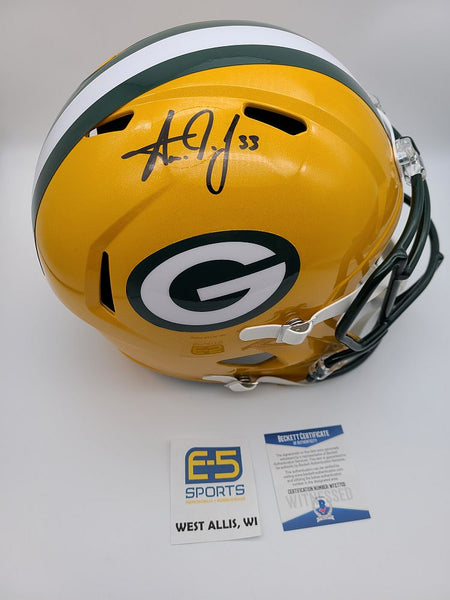 Aaron Jones Packers Signed Autographed Full Size Replica Helmet BECKETT
