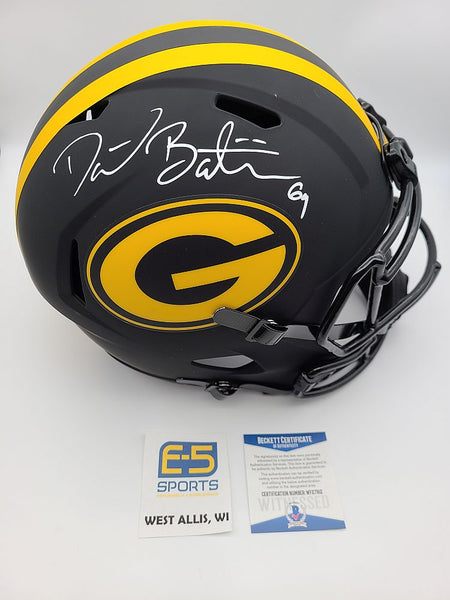 David Bakhtiari Packers Signed Autographed Full Size Replica Eclipse Helmet