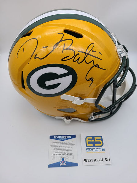 David Bakhtiari Packers Signed Autographed Full Size Replica Speed Helmet