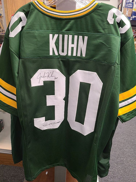John Kuhn Packers Signed Autographed Custom Green Jersey SB XLV CHAMPS JSA