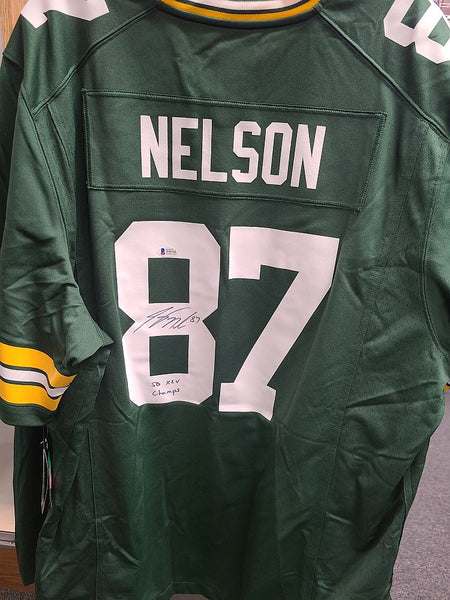 Jordy Nelson Packers Signed Autographed NIKE GAME Licensed Jersey SB XLV CHAMPS