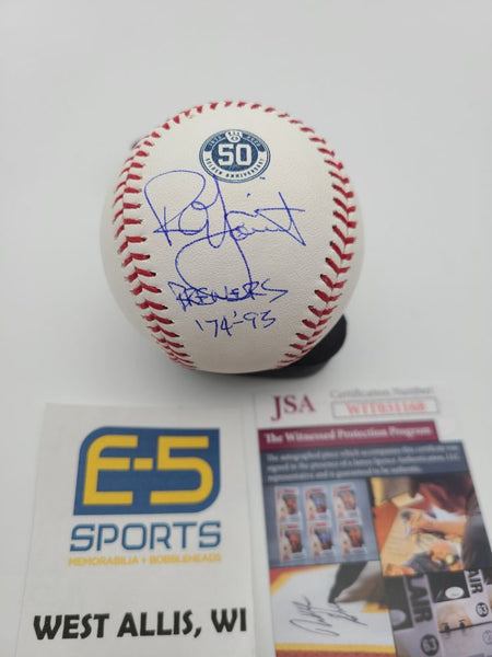 Robin Yount Brewers Signed Autographed Brewers 50th Baseball INSCRIPTION JSA